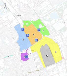 Parkeergebieden Delft